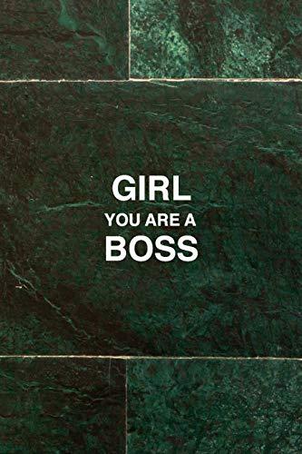 Girl you are a boss, boss lady Journal Inspirational Womens Notebook: 120 Paged, Bullet Journal, dot grid notebook, 6 x 9 (15.2 x 22.9 cm)