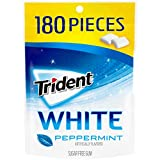 Trident White Peppermint Sugar Free Gum, 180 Pieces by Trident