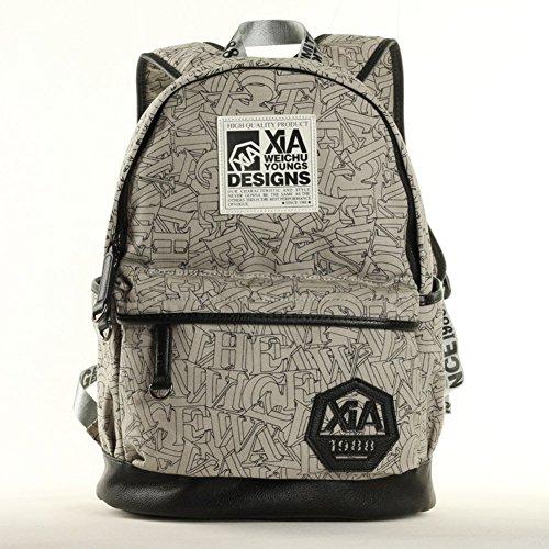 Sincere® Fashion Backpack / Zipper Sacs à dos / rue mode / sac multifonction / Canvas / sac à bandoulière casual / extérieur sac à dos gris