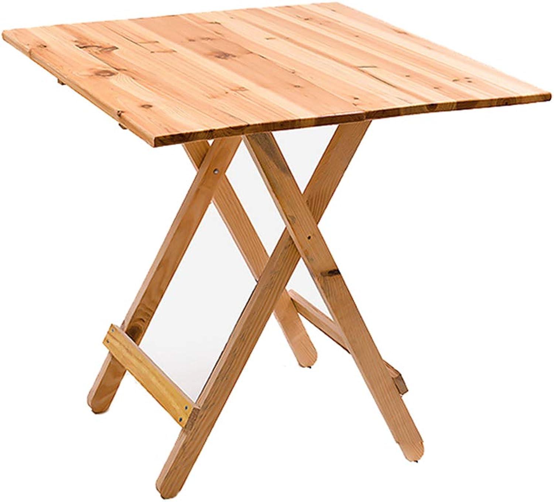 YFUIOVX Klapptisch Quadrat Massivholz Esstisch, Multifunktion Draussen Computer Laptop-Tisch Kaffetisch Lernen Schreibtisch,WoodFarbe,77  77  67cm