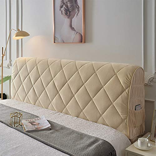 Funda para cabecera de cama doble Queen Full California King Size, cama cabecera cubierta protector de algodón grueso..