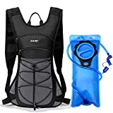 G4Free Hydration Pack Backpack with 70 oz 2L Water Bladder for Running, Hiking, Cycling, Climbing, Camping, Biking(Black)