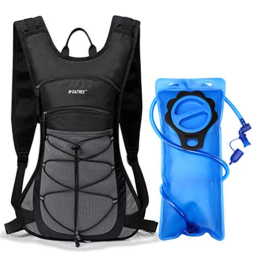 G4Free Hydration Pack Backpacks with PEVA Upgraded 2L Water Bladder for Hiking Biking Running Walking and Climbing