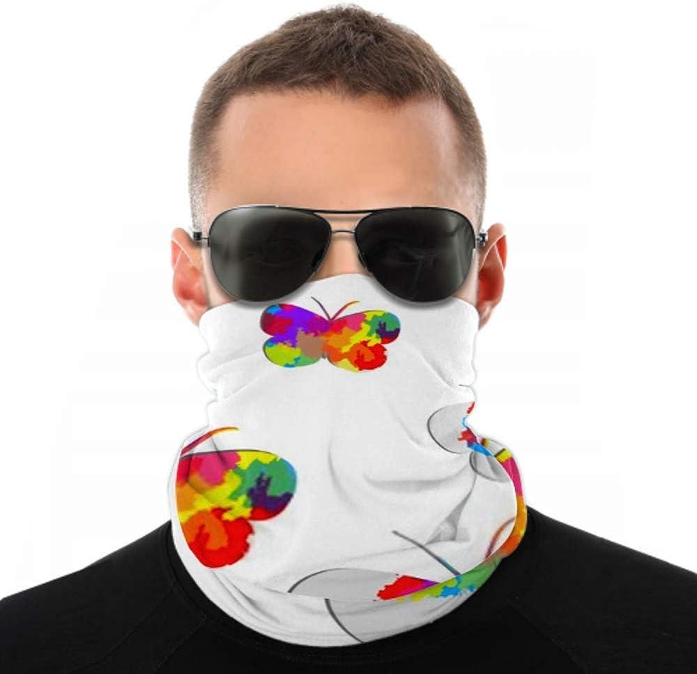 Headbands For Men Women Neck Gaiter, Face Mask, Headband, Scarf Butterflies Turban Multi Scarf Double Sided Print Women Head Wraps For Sport Outdoor