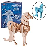 Disney Frozen 2 Water Nokk Horse 3D Wood Puzzle &Model Figure Kit (29 Pcs) - Build & Paint Your Own 3-D Movie Toy - Holiday Educational Gift for Kids & Adults, No Glue Required, 8+