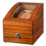 JQUEEN Automatic Double Watch Winder with 3 storages (Mandshurica)