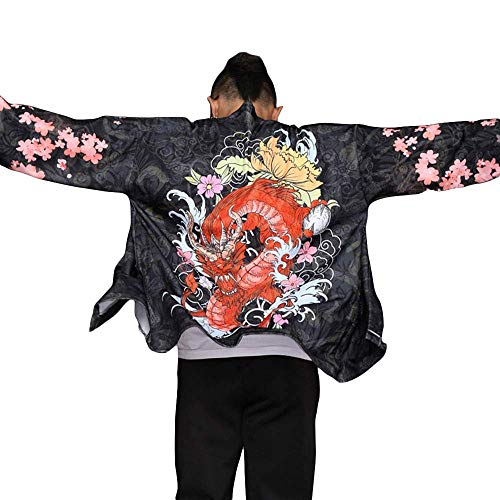 Axpdefi Japanische Kimono-Strickjacke...