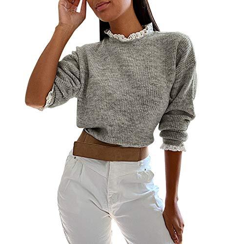 Damen-Kleidung, leger, einfarbiger Pullover, ComfyTwist Knoten, Tunika, Blusen Gr. L,...