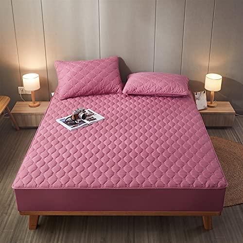 HAIBA Protector de colchón antiácaros para girar, protector de colchón | cama con somier de caja, 01 morado, 120 x 200 cm+25 cm