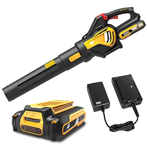 AS 40V Cordless Leaf Blower-Leaf Blower with 2.5 Ah Lithium- ion Battery & 1 Hour Charger,Powered Leaf Blower with Variable-Speed, with 107 MPH Output,Electric Leaf Blower Lightweight ,for Lawn Care