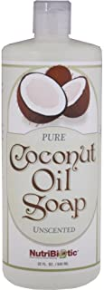 Nutribiotic Pure Coconut Oil Soap, Unscented, 32 Fluid Ounce