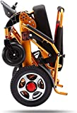 Silla de ruedas eléctrica plegable Silla de ruedas eléctrica plegable, ligero sillas de ruedas All Terrain batería de litio Silla Vespa de energía dual de alimentación del motor 12A 15 kilometros de a