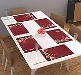 Designer Homes Centre Coffee Dining-Table Place Mats,Printed Table Mats/Placemats/Plastic Table Mats/Fridge Mats Set