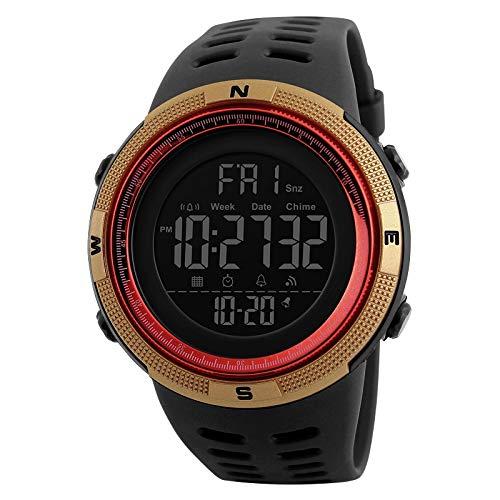SKMEI Digital Men's & Boys' Watch (Black Dial Black Colored Strap)