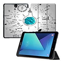 MAITTAO Foilo Stand Case For Samsung Galaxy Tab S3 9.7 2017 Release, Slim Magentic Smart Stand Cover Auto Sleep/Wake for Galaxy Tab S3 9.7-Inch Tablet SM-T820 SM-T825 SM-T827, Creative Bulb 11