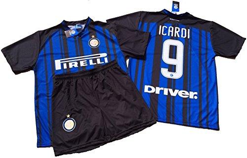 F.C.Internazionale Completo ICARDI Inter Bambino 10 Anni Maglia + Pantaloncini Replica Ufficiale 2017-18 Anni 10