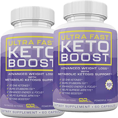 Ultra Fast Keto Boost - Advanced Weight Loss with Metabolic Ketosis Support - 800MG - 120 Capsules - 60 Day Supply 1
