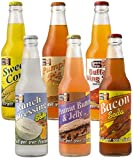 Lester's Fixins Outrageous Wild Crazy Unique Flavor Soda Pop 6 Pack Sampler Set