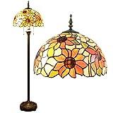 Gweat 16 pulgadas Pastoral girasol tiffany lámpara de pie Lámpara del dormitorio de la lámpara de la sala