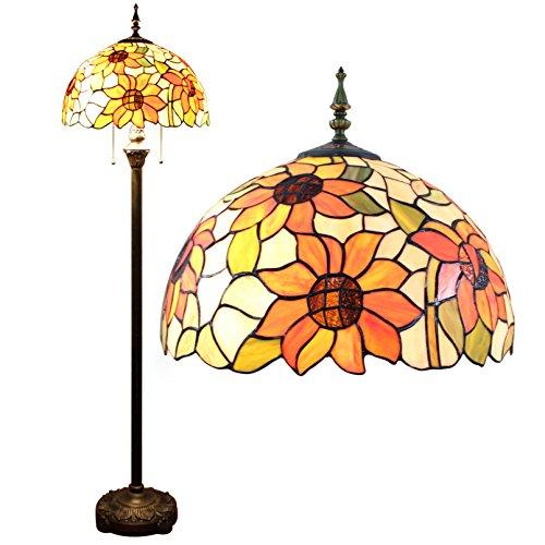 Gweat 16-Inch Idylle Sonnenblume Tiffany Stehlampe Schlafzimmerlampe Wohnzimmerlampe