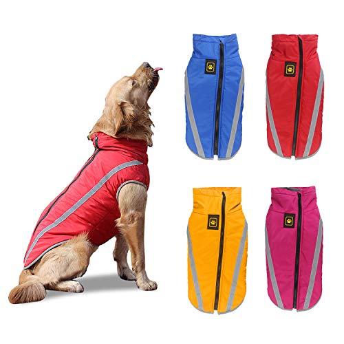 PETCUTE Abrigo para Perros Impermeable Chaleco cálido para Perro Chaqueta para Perros medianos Grandes para Perros