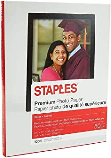 Staples 648178 Premium Glossy Photo Paper 8.5-Inch x 11-Inch 50/Pack (19899-CC)