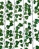 Flamingueo Guirnalda Enredadera Hiedra Artificial - Plantas Artificiales Decorativas (12uds x 2m) Guirnalda de Hojas Artificiales, Plantas Artificiales Exterior, Decoracion Habitacion Tumblr