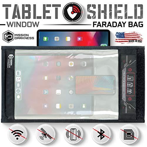 Mission Darkness Fenster Faraday Tasche für Tabletten // 5. Generation Abschirmung für Strafverfolgung und Militär // Anti-Hacking, Signalblockierung, Datenschutz