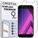 REY Protector de Pantalla para Samsung Galaxy A3 2017, Cristal Vidrio Templado Premium