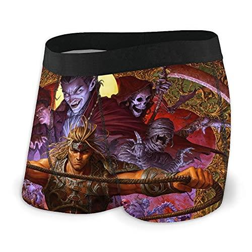 World Warcraft - Calzoncillos tipo bóxer para hombre (talla S-XXL), diseño de ropa interior, tela elástica, cinturón cómodo y transpirable