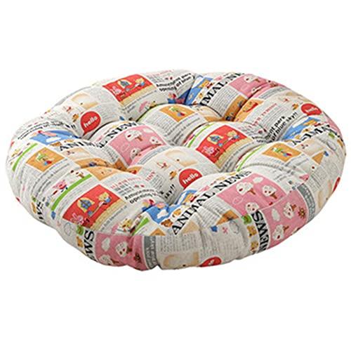 bänkkudde Golvkudde, Rund 3D Bomullsfylld Bursprutskudde, bomullslinneTyg, för Vardagsrum Vuxna Och Barn Avslappnade Läshörn (23x 23)(Size:58 * 58,Color:Style 1)
