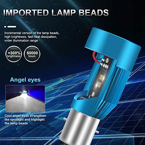 KaiDengZhe Moto Headlight Bulb with Angle eyes