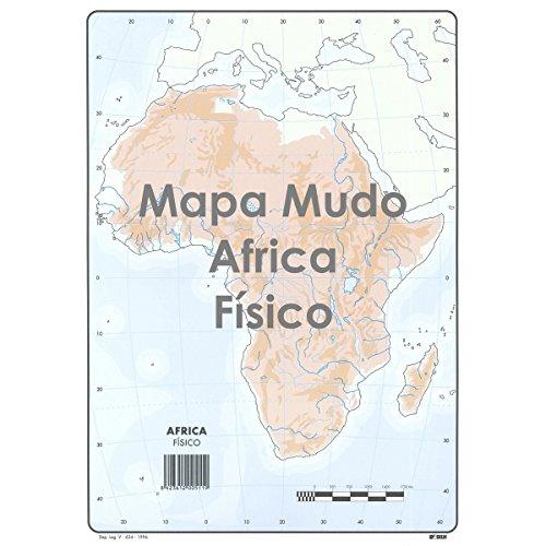 Mapa Mudo SELVI Color Din-A4 África Físico, Caja x50