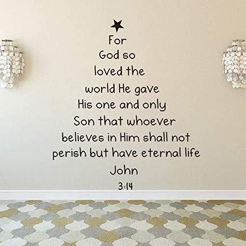 Bibel Weihnachtsbaum Wandtattoo Abnehmbare Bibel Weihnachtsbaum Wandtattoo Familiendekoration Weihnachtsfenster Wandbild Art69x80cm
