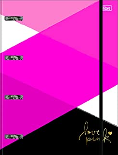 Caderno Argolado Universitário, Tilibra, 2019, 80 Folhas, Com Elástico, Love Pink