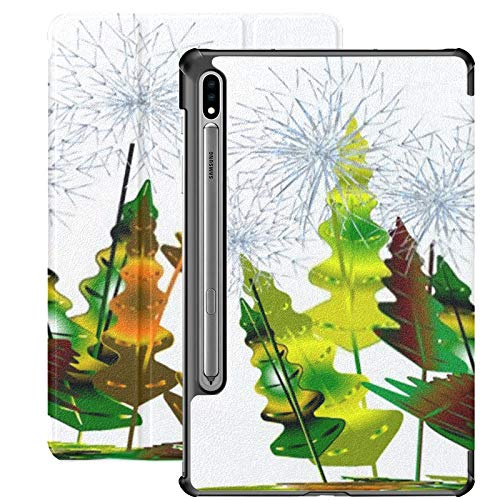 Galaxy Tab S7 Case Slim Lightweight Stand Case Shell Cover For Samsung Galaxy Tab S7 Tablet 11 Inch Sm-t870 Sm-t875 Sm-t878 2020 Release, Six Faded Dandelions Different Colourful Leaves