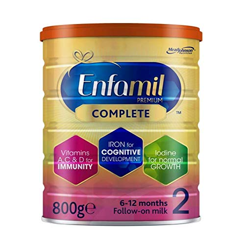 Enfamil Premium Complete Stage 2 Follow-on Milk Formula – Milk Powder for Infants from 6 Months to 1 Year (800g Single Pack)