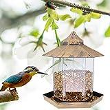 Hocety Mangiatoia per Uccelli, Lanterna appesa Mangiatoia per Uccelli Mangiatoia per Giardino Mangiatoia per la Protezione dalle intemperie per la Decorazione di Giardini all'aperto