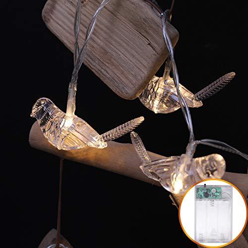 Led-lichtsnoer, gordijn, ramen, tuin, buiten, sprookjes, lichtketting, tuin, zomer, lantaarn, vorm van de ketting buiten, festival, tuin, warmwit, 10 lichtjes van 1,2 m
