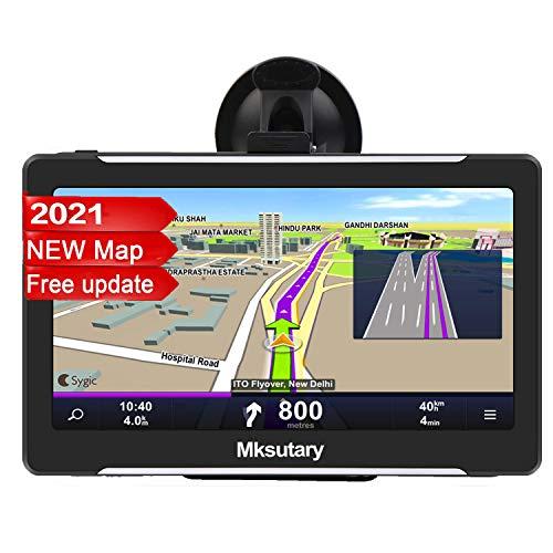 7' GPS Voiture Auto - Cartographie Europe 52 Pays Mise à Jour à Vie - 7 Pouces Ecran Tactile Haute Luminosité avec Support