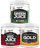 Organifi: Sunrise to Sunset Power Box (9.5 Oz. Each) - Superfood Powder - Green Juice, Red Juice, Golden Milk- 30 Day Supply - Made to Boost Metabolism, Natural Energy, and Sleep - Organic and Vegan
