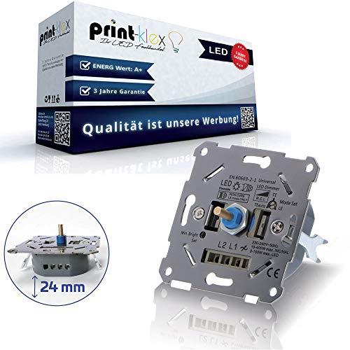 Universal Drehdimmer LED Halogen Dimmer Dimmschalter Unterputz Wechselschalter - geeignet für Phasenabschnitt/Phasenanschnitt