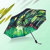 ZHANGYY Compact Windproof Umbrella Travel Umbrella, 12-Row Automatic Folding And Folding Portable Umbrella, Ergonomic Handle, Compact Reinforced Windproof Frame