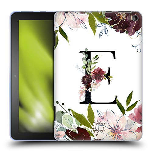 Head Case Designs Officially Licensed Nature Magick Letter E Monogram Garden Flowers 1 Soft Gel Case Compatible with Amazon Fire HD 8 (2020)