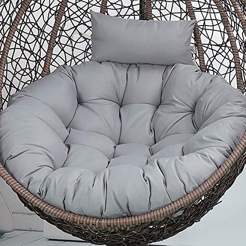 hhh Bird's Nest Silla De Cabestrillo Cojín Rattan Silla Single Mecedora Cojín Trasero,Cojín Redondo De La Cesta De La Cuna-Gris Diámetro:105cm