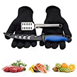 PAUL MAIER Fish Cleaning Kit 3-Piece Set Includes,Filet Knifes for Fish,Anti-Cutting Gloves,Fish...