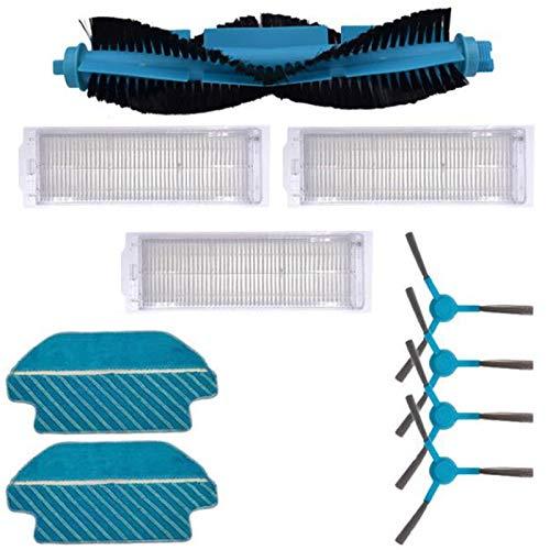 Facibom Brosse latérale pour balai à franges Filtre HEPA pour aspirateur Cecotec Conga 3290 3490 3690