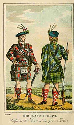 A4 foto Logan James 1794 1872 crofters Gael 1876 Highland Chiefs Póster