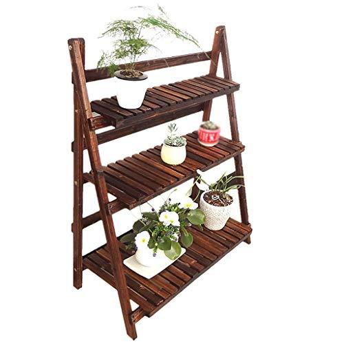 CCLLA Soporte para macetas Soporte para Plantas Estantes de Almacenamiento Estante en Maceta para Hierbas Bonsai Estante de exhibición con 3 escalones Escalera Ideal para jardineros Regalo par