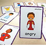14 Pcs Feelings Emotions Flash Cards| Sentiment| Memory Game | Preschool Educational Learning English Games & First Words Cards(basic english vocabulary cards & cards pocket for kids )12x9cm(inglés)